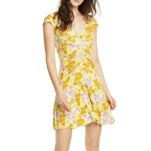 Free People Key to Your Heart Floral Minidress)B15